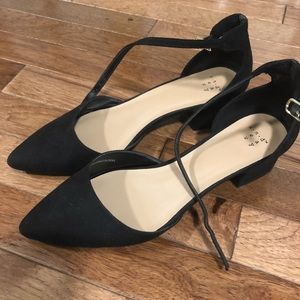 44031a9d5 a new day Shoes | Birdie Pointed Low Block Heel Pumps | Poshmark